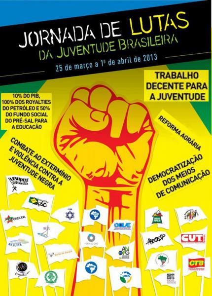 """Unir a Juventude Brasileira: """"Se o presente é de luta, o futuro nos pertence""""!"""