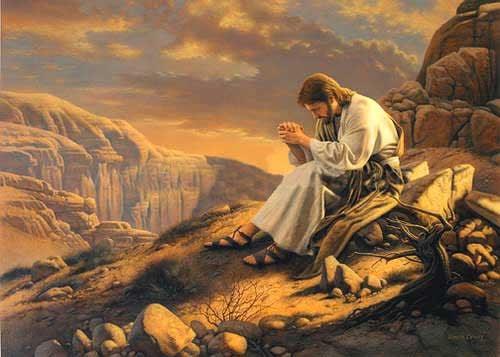 Resultado de imagem para orando com jesus