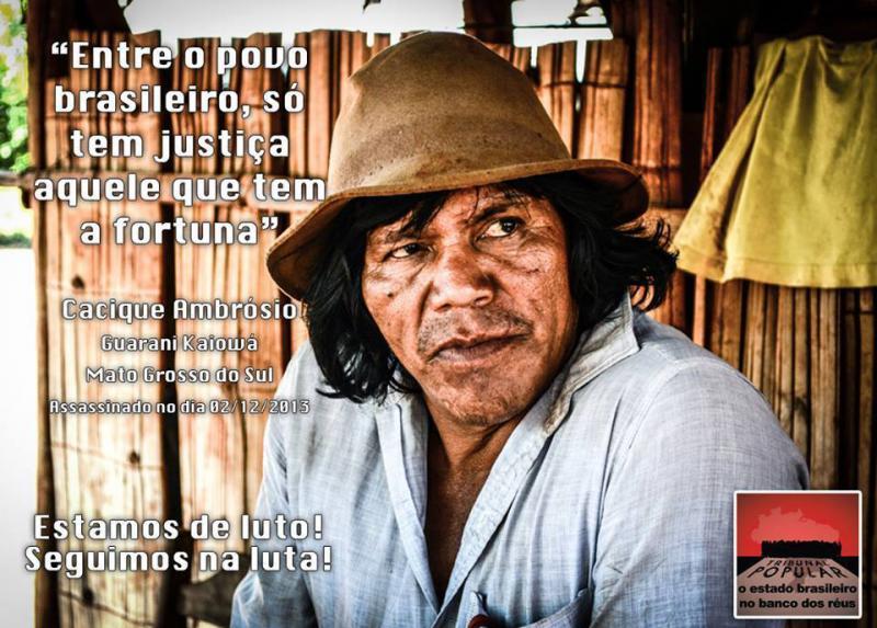 Mais um líder indígena assassinado em Mato Grosso do Sul