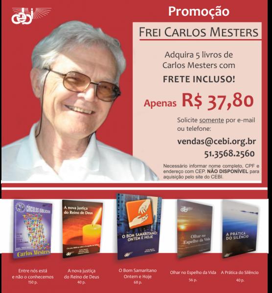 Publicações de Carlos Mesters em promoção no CEBI