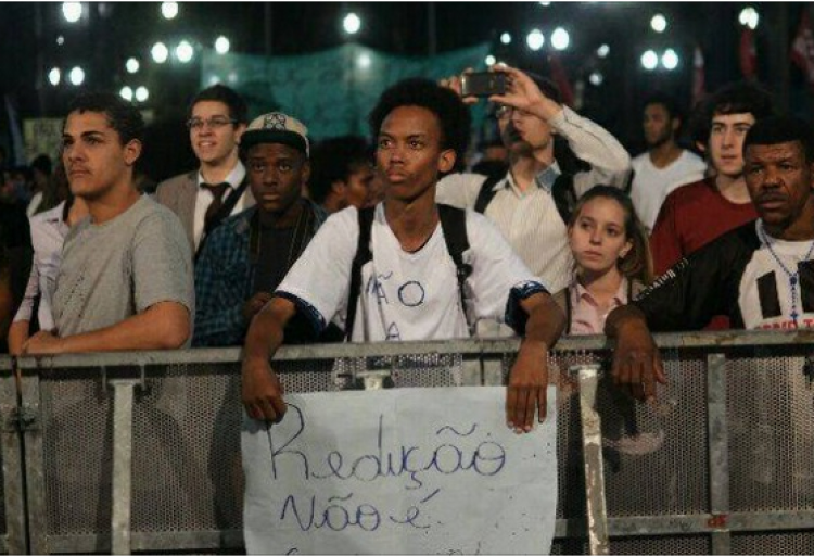 Em SP, jovens e ativistas dizem não à redução da maioridade penal