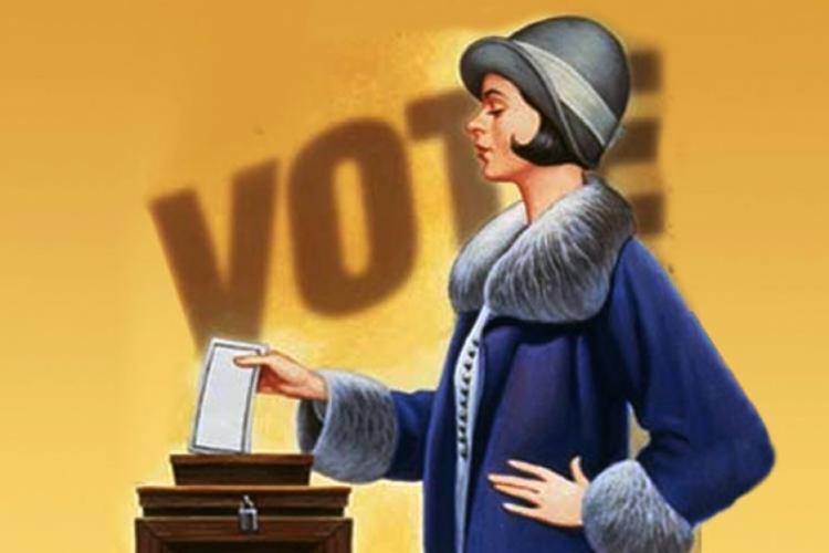 Resultado de imagem para voto feminino
