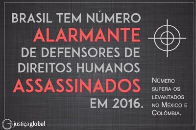Brasil: assassinatos de defensores de direitos em franca ascensão