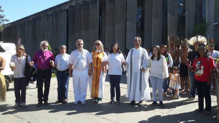 CONIC participa de ato ecumênico em defesa dos povos indígenas