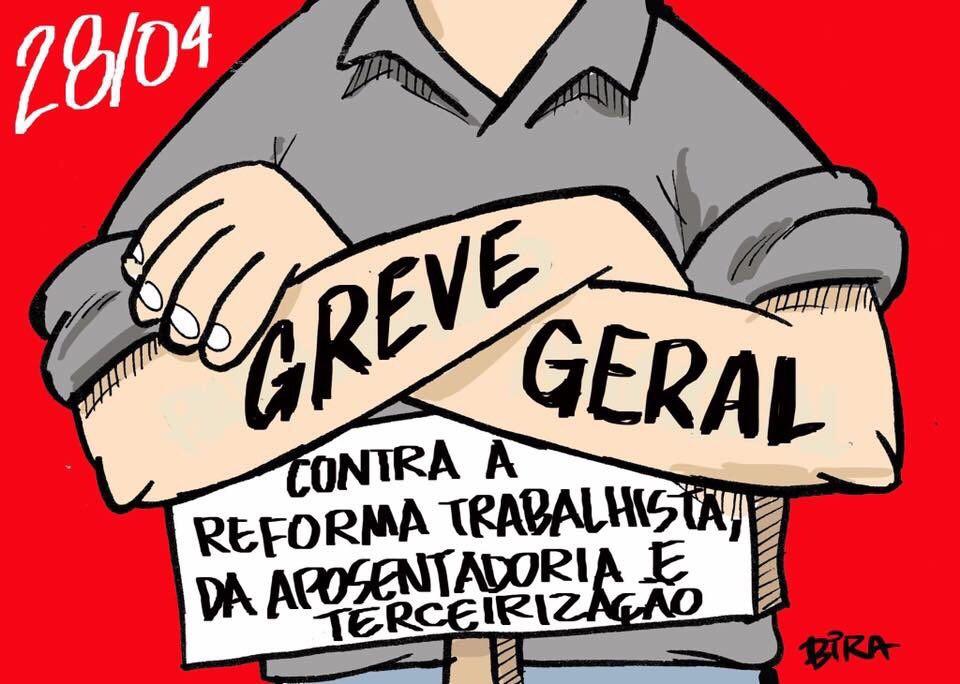 Greve Geral: Confira vídeos de integrantes da rede Jubileu Sul Brasil