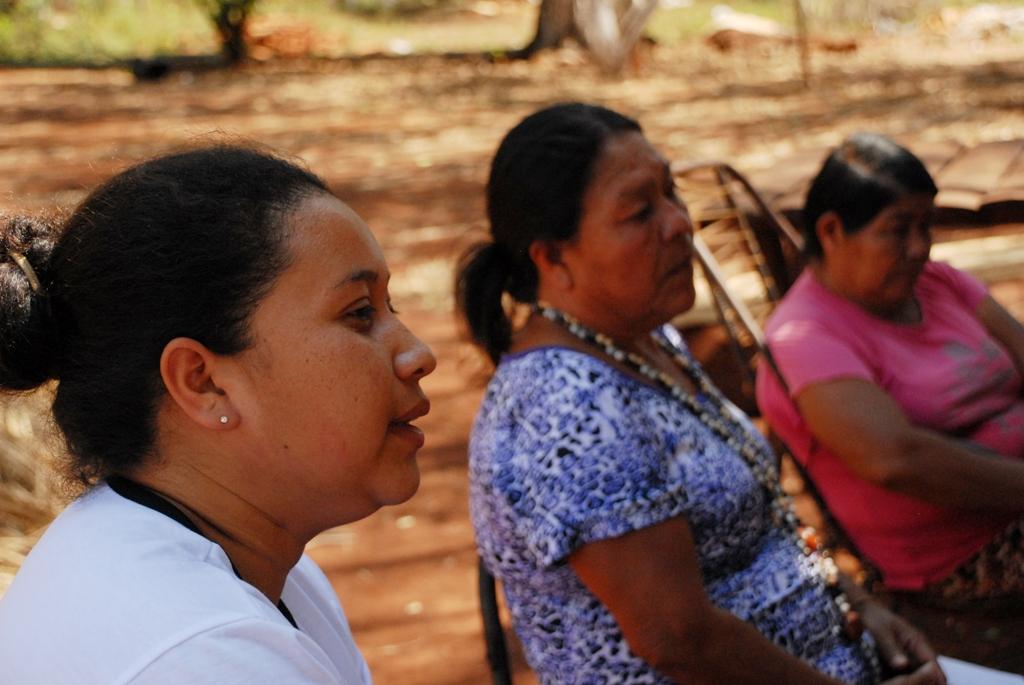 Flávia Arino Nunes, Alda Silva e Lucila Juca: lideranças indígenas.