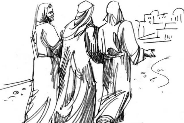 Os discípulos no caminho de Emaús