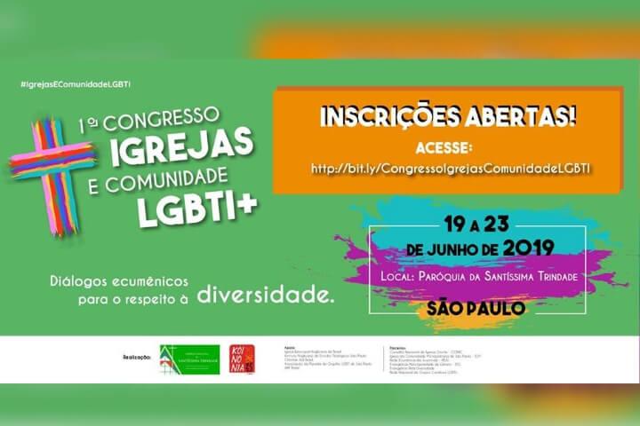 Inscrições abertas para o 1º Congresso Igrejas e Comunidade LGBTI+