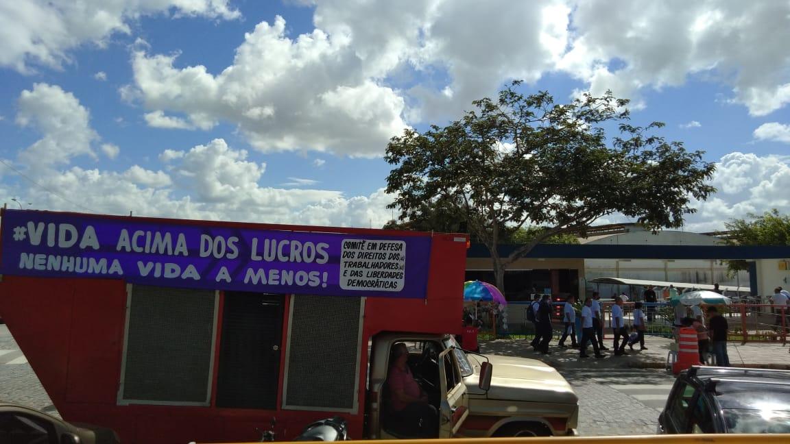 O CEBI Paraíba participa de ato a favor de operários em Campina Grande