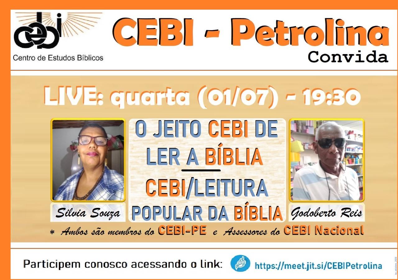 CEBI PETROLINA – O jeito CEBI de ler a Bíblia (Live)