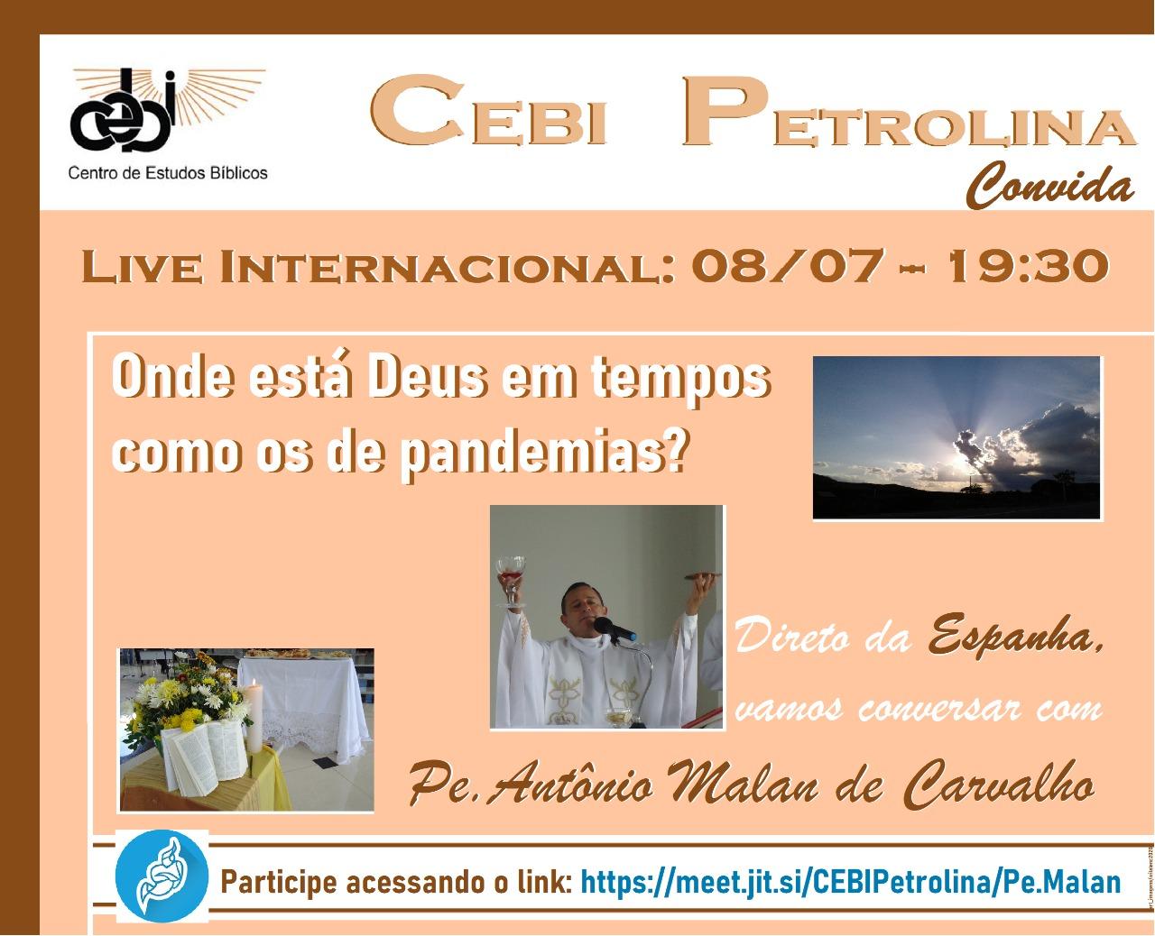 CEBI Petrolina – Onde está Deus em tempos como os de pandemias ?