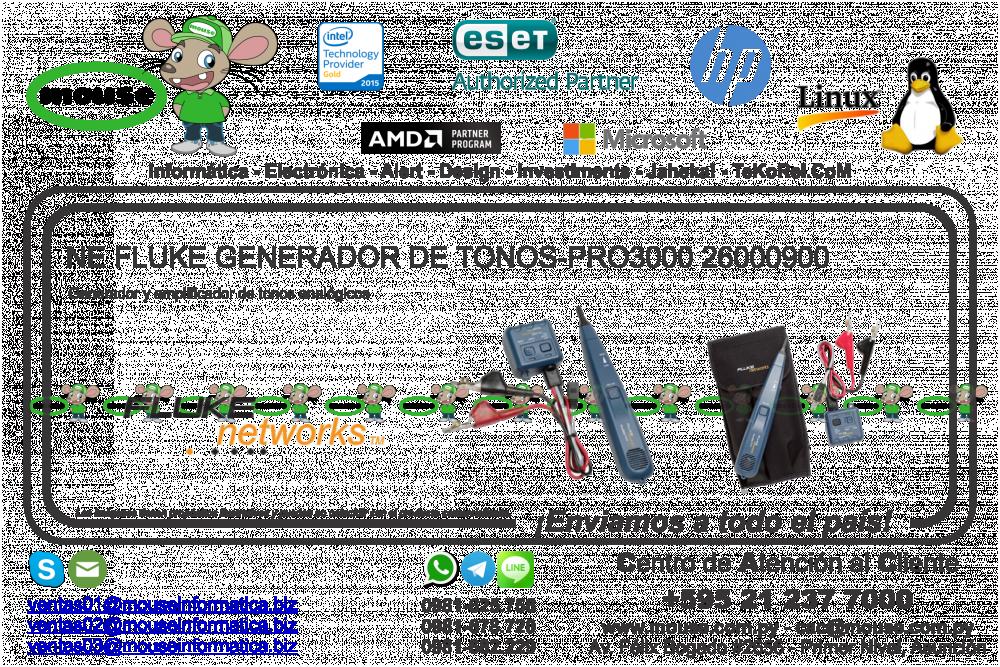 Ne 26000900 Tonos-pro3000 De Fluke Clasiweb - Generador