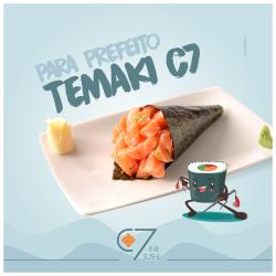 Temaki Salmão C7 Sushi