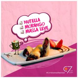 Rolinho Primavera Nutella com Morango C7 Sushi