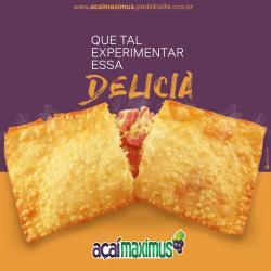 Açaí Maximus web app Pastel de Frango com catupiry