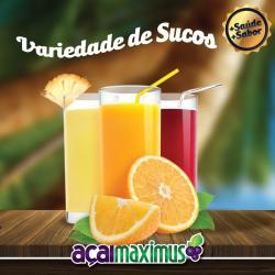 Açaí Maximus web app SUCO DE LARANJA