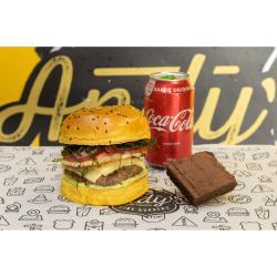 Andys Fine Burgers web app COMBO Vintage + Refrigerante Lata + Brownie de Chocolate :)