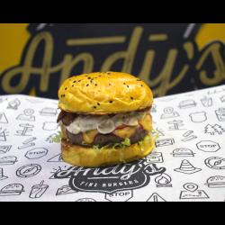 Andys Fine Burgers web app Alabama - Burger do Mês - Julho 2020
