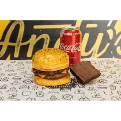 Andys Fine Burgers web app COMBO San Diego + Refrigerante Lata + Brownie de Chocolate :)