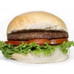 Hambúrguer de coração Assados e Cia