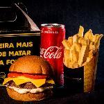 BILLY BURGER Delivery web app Triplo Cheddar + Fritas + Coca lata