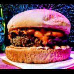 Cheddar com cebola caramelizada + fritas + guarana 200ml Burgolândia Burgers