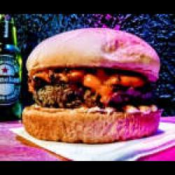 Cheddar com cebola caramelizada Burgolândia Burgers