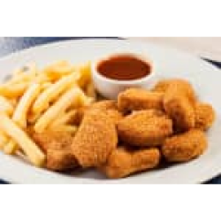 Nuggets de frango frito com batata frita Combo in House