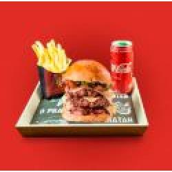 Combo Dom AVC + Bebida + Batata Frita Dom Bacon