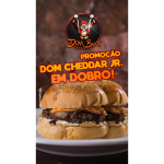 Dom Cheddar JR em Dobro Dom Bacon
