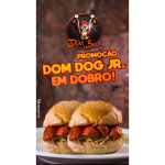 Dom Dog JR em Dobro + 2 Refrigerante Dom Bacon