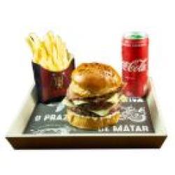 Dom Bacon web app Combo Dom Infarto + Bebida + Batata Frita