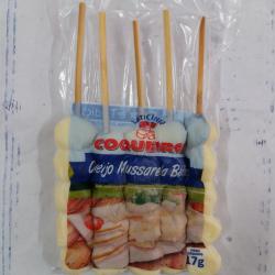 Pacote espeto queijo mussarela  c/ 5 und Espetinhos.com