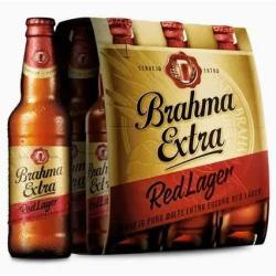 Estupidas Cervejas Delivery web app Brahma Extra Red Lager puro malte (6 garrafas 355 ml)