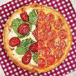 Pizza meio a meio gigante Guinness Pizza