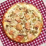 Pizza salmão Guinness Pizza