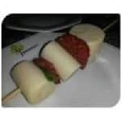 Espeto palmito c/rucula e tomate seco não grelhado Espetinhos.com