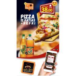 PIZZA DE 12 FATIAS + KUAT 2 LITROS Pizzaria Água na Boca--------(CNPJ=33.413.420.0001/59)