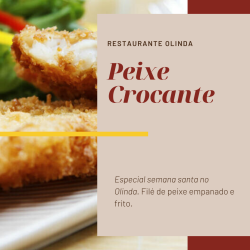Restaurante Olinda  web app Peixe crocante