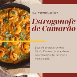 Restaurante Olinda  web app Estrogonofe de Camarão