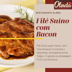 Restaurante Olinda  web app Filé Suíno com Bacon
