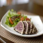 Sashimi ATUM Selado com Crosta de Gergelim. ( Low Carb )08 Unidades. Toyo Cozinha Oriental