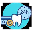 Amil Dental oferece carência de 24h no pagamento no cartão de crédito ou boleto anual