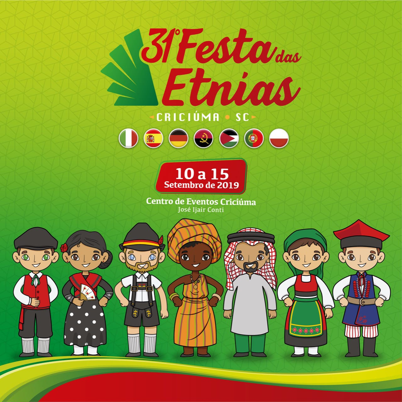 31ª Festa das Etnias começa na próxima terça-feira em Criciúma