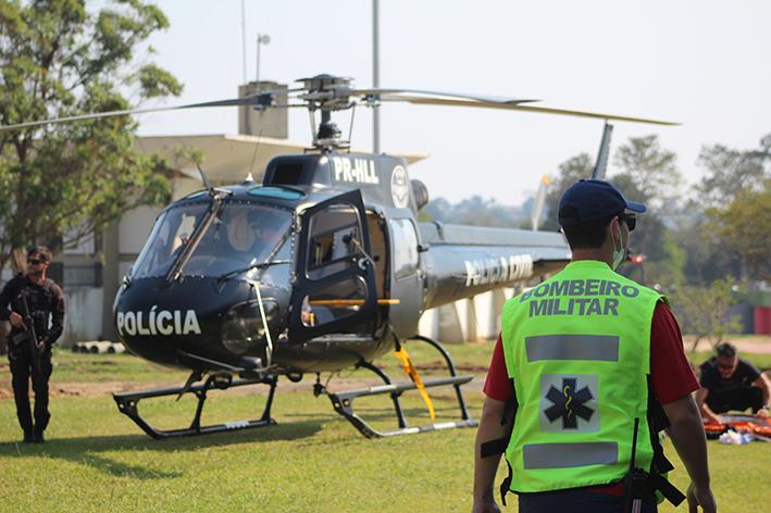 Simulação de atendimento pré-hospitalar movimenta o Paço Municipal Marcos Rovaris
