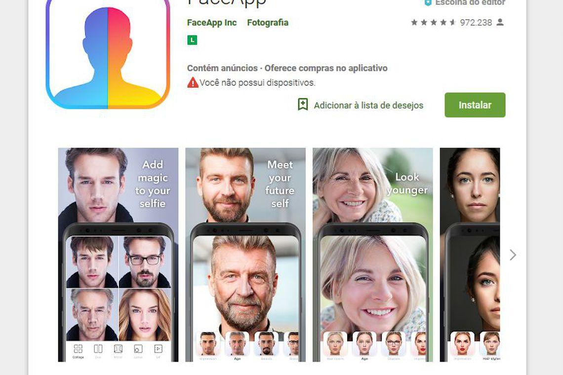 Aplicativo FaceApp, que viralizou ao envelhecer usuários, pode abrir porta para abusos com dados