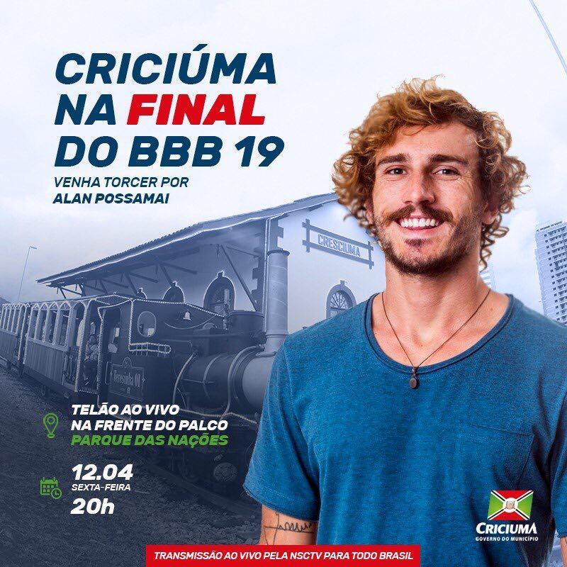 Criciúma no BBB: Parque das Nações será palco para torcida na grande final