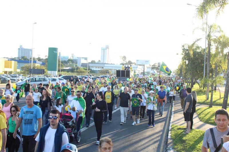 Criciúma é palco de manifestação em prol a Bolsonaro