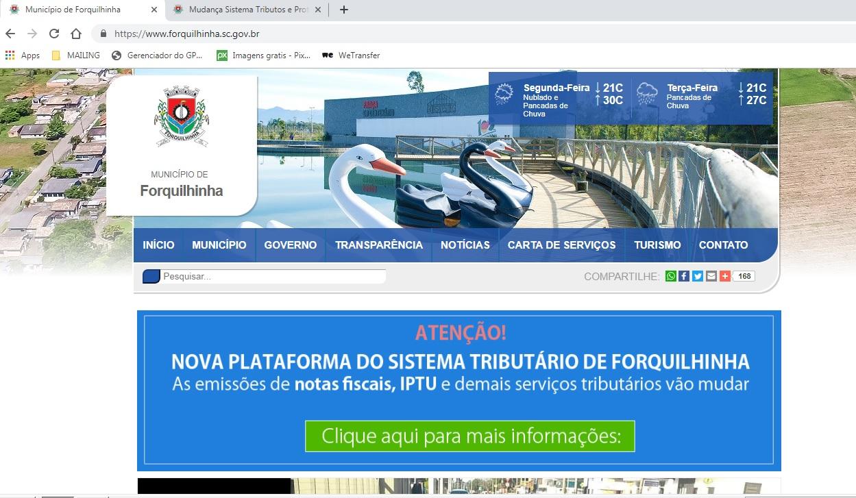 Novo sistema tributário será implementado em Forquilhinha