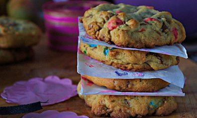 Receita de Cookies de Baunilha com Chocolate e M&M's